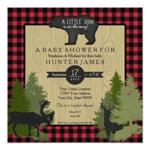 Woodland Baby Shower Invitations | BabyShowerInvitations4U