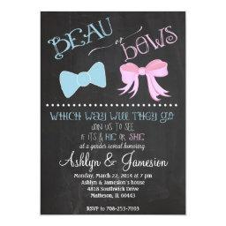 Beau bow or Bows Gender Reveal Party