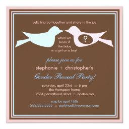 Bird Couple Baby Gender Reveal Party