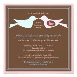 Bird Family Couples Baby Shower