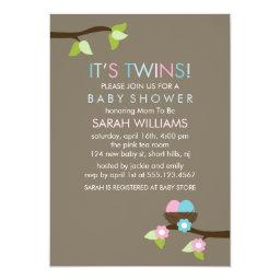 Bird Nest and Blossoms Twins Baby Shower