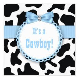 Black and Blue Cowboy Baby Boy Shower