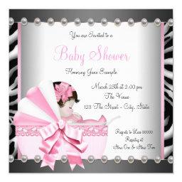 Black and Pink Zebra Baby Shower