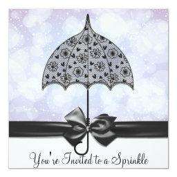 Black Lace Umbrella Purple   Shower