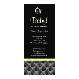 Black White Yellow Peacock Feathers Baby Shower