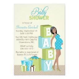 Blocks Baby Shower  African American Boy