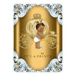 Blue and Gold Carriage Ethnic Prince Baby Shower