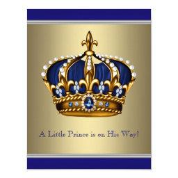 Blue and Gold Crown Little Prince