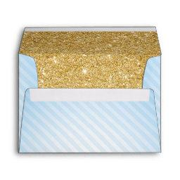 Blue and Gold Envelopes, Twinkle Little Star Envelope
