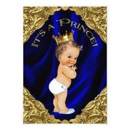 Blue and Gold Prince Baby Shower