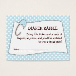 Blue  Diaper Raffle Ticket Insert
