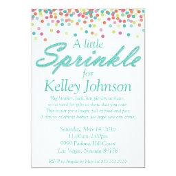 Blue Baby Sprinkle Shower Invite
