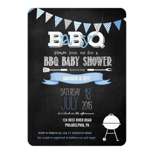 Couples Bbq Baby Shower: BabyQ & Couples Coed Baby Shower Invitations