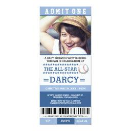 Blue Baseball  Party Invites