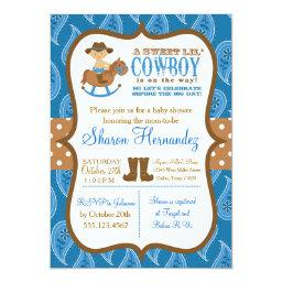 Blue Cowboy Baby Boy Shower