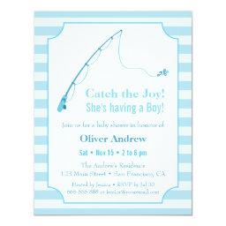 Blue Fishing Themed Baby Shower