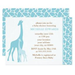 Blue Giraffes Boy Baby Shower