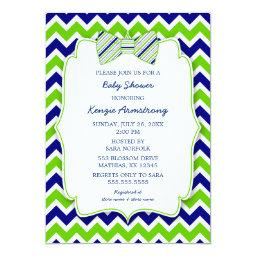 Blue Green Bow tie BOY  invites