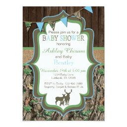 Blue Green Camo Baby Shower