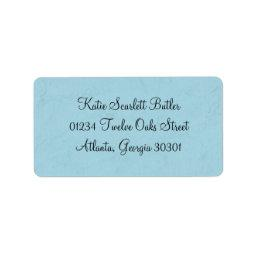Blue Little Prince Vintage Baby Shower Label