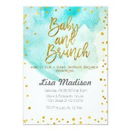 Blue Mint Baby Shower Brunch