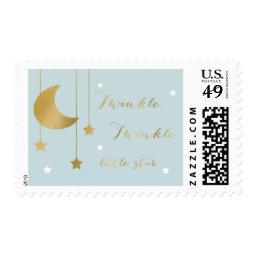 Blue Moon and Stars  Stamp