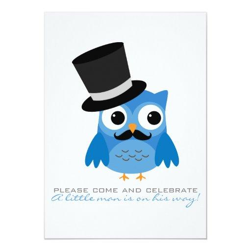 Blue Owl with Mustache