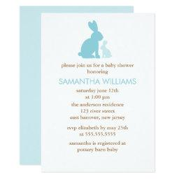 Blue Rabbits Boy Baby Shower