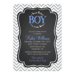Blue Sweet Baby Boy  Invitation