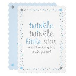 Blue Twinkle Star Baby Shower