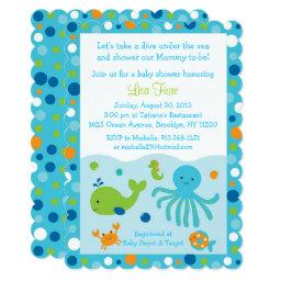 Blue Under the Sea Baby Shower