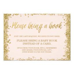 Blush Pink Gold Faux Glitter  Book