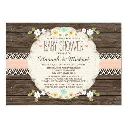 BLUSH RUSTIC FLORAL BOHO COUPLES BABY SHOWER