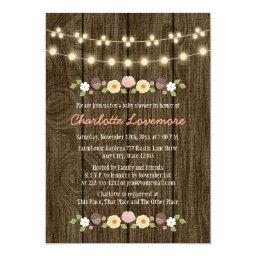 Blush String of Lights Fall Rustic
