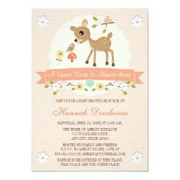 BLUSH WOODLAND DEER BABY SHOWER