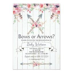Boho Bows or Arrows Gender Reveal Party