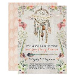 Boho Dream Catcher Rustic Baby Shower