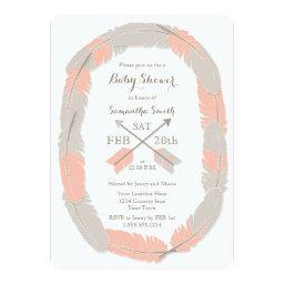 Boho Feather and Arrow Girl Baby Shower