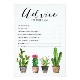 Boho Watercolor Succulents Advice for the Parents