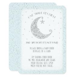Book Request Moon Star Baby Shower Silver Blue