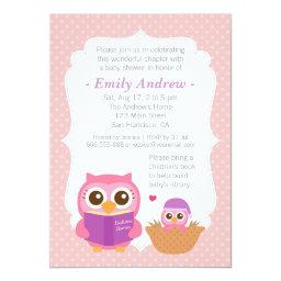 Book Themed, Girl Cute Owl Baby Shower