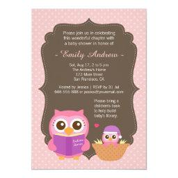 Book Themed, Pink Cute Owl Baby Shower