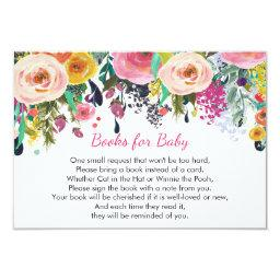 Books for baby, floral bring a book insert card