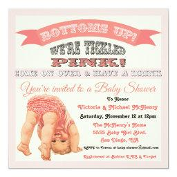 Bottom's Up Vintage Baby Girl Shower