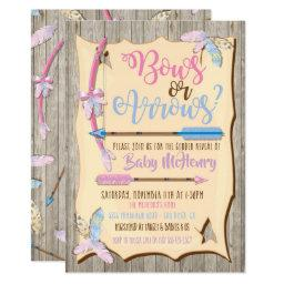Bow or Arrows Gender Reveal Baby Shower