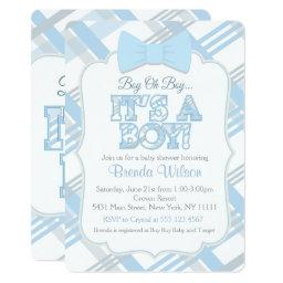 Bow-Tie and Blue Plaid Baby Shower