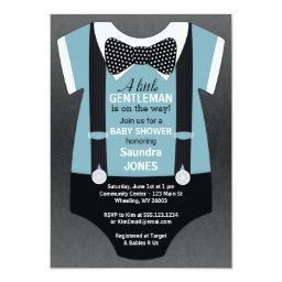 Bow Tie Baby Shower , Suspender Invite