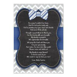 Bow Tie  thank you notes with poem