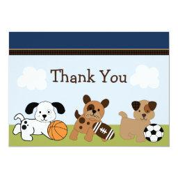Bow Wow Puppy Dog & Sports Thank You