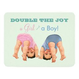 Boy and Girl Twin Baby Shower
